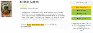 Smashwords Summer/Winter sale now on, including Strange Matters!